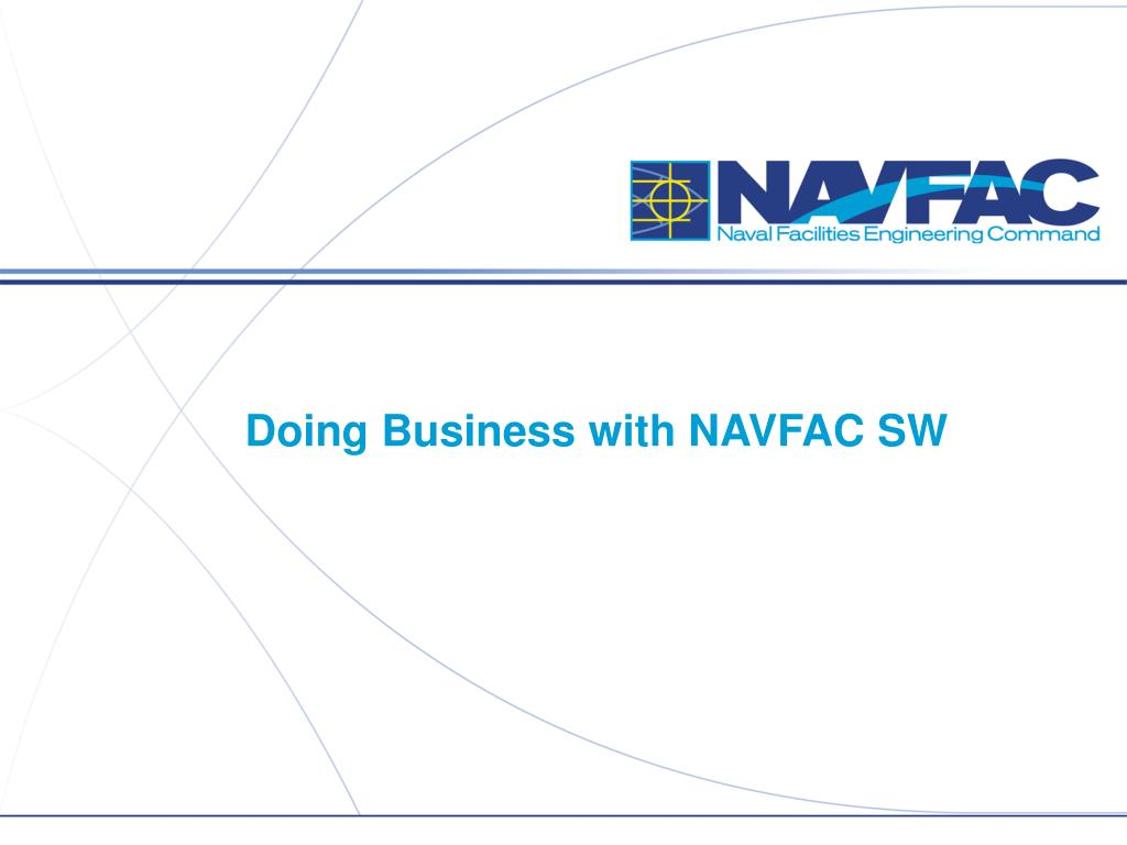 doing business with navfac sw l.
