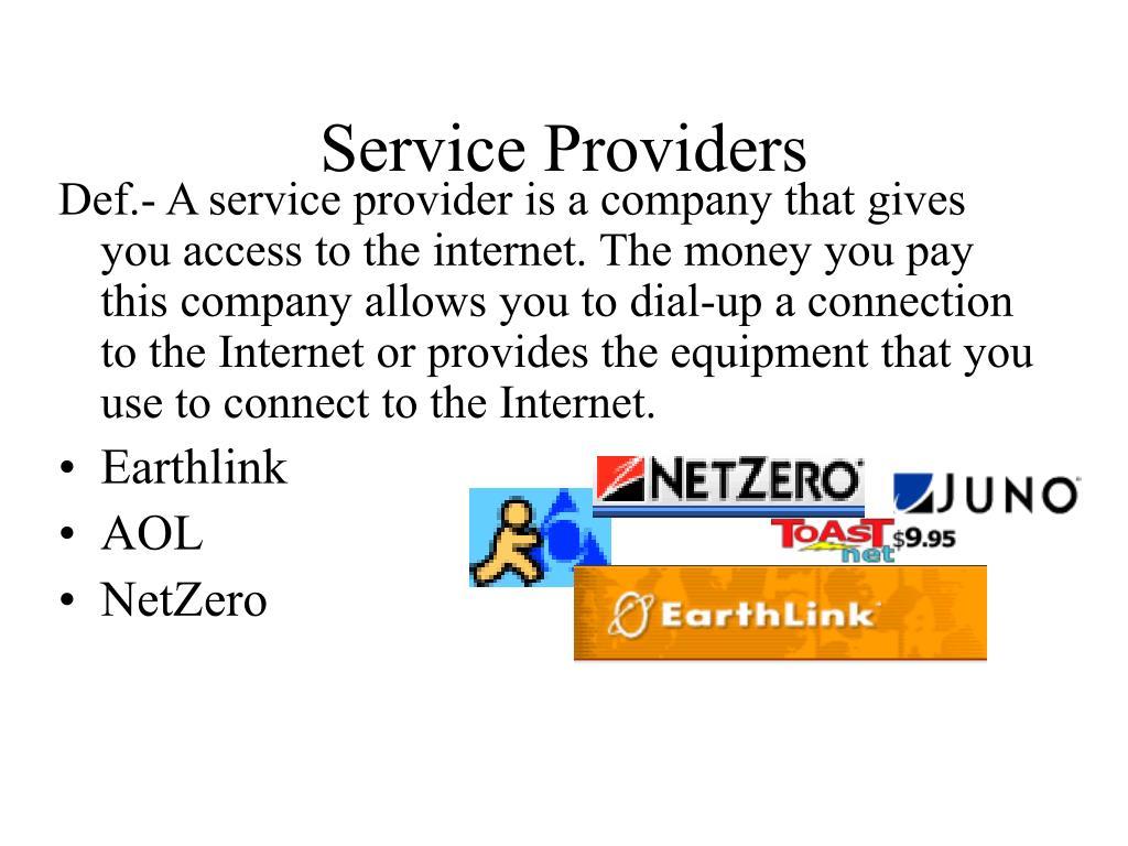 Service Providers