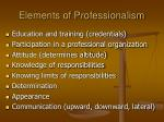 elements of professionalism
