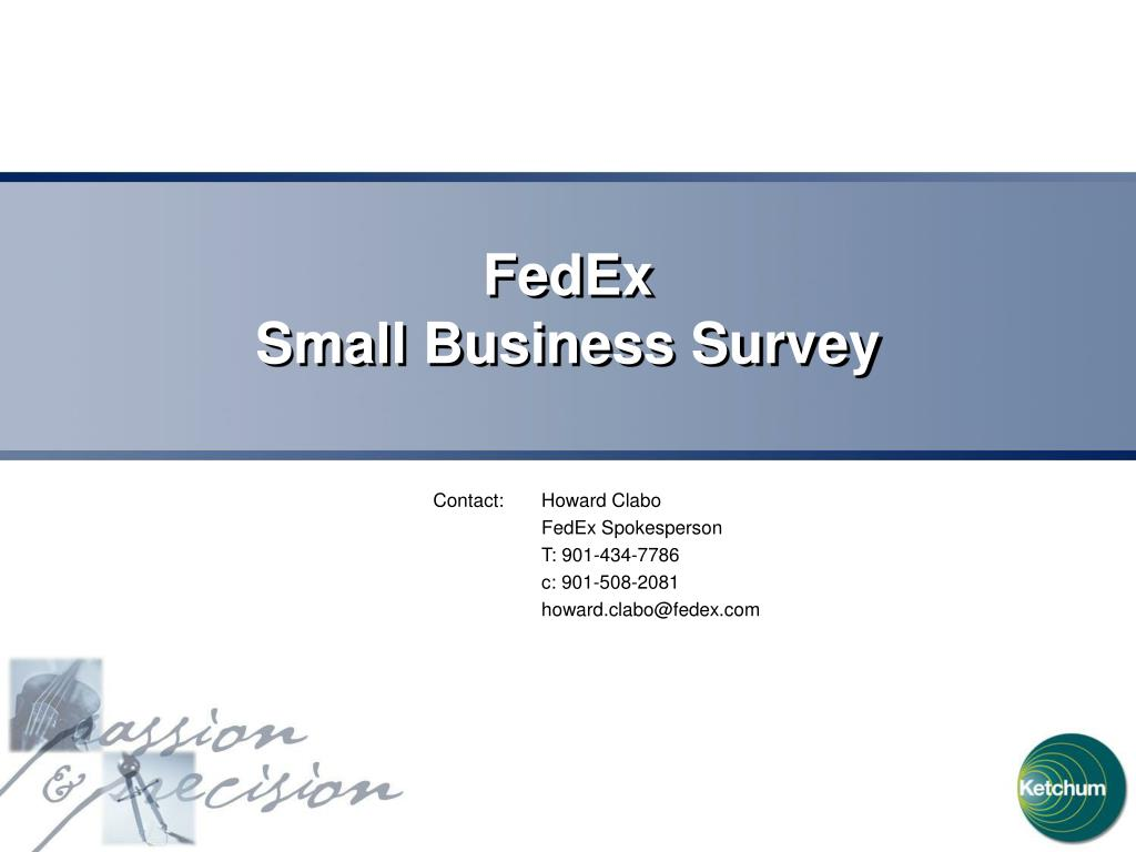 fedex small business survey l.