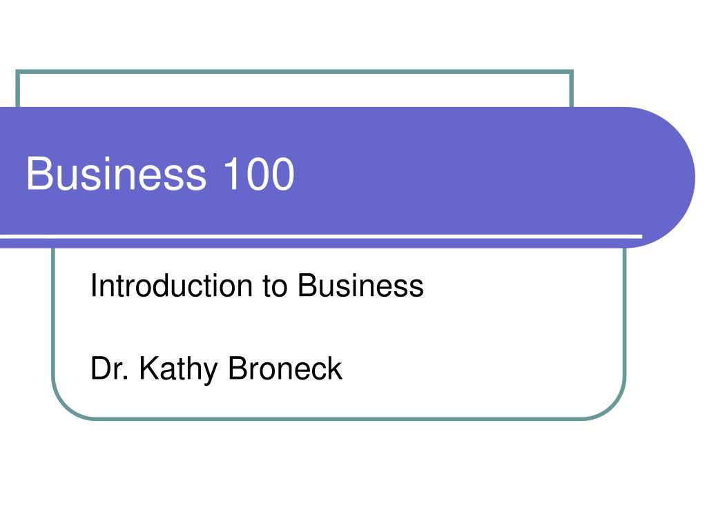 business 100 l.