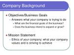 company background15
