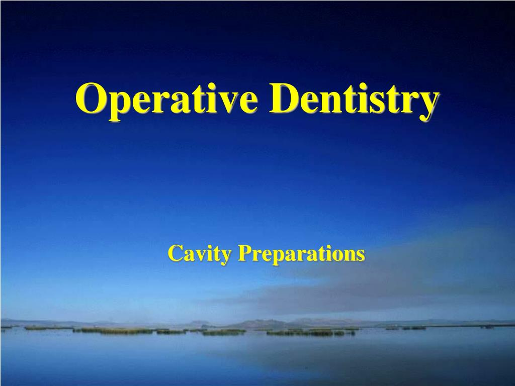 operative dentistry l.