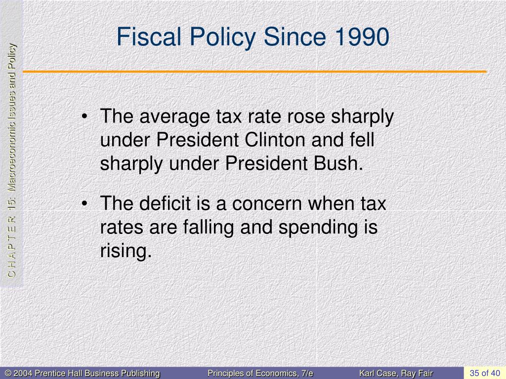 Fiscal Policy Since 1990