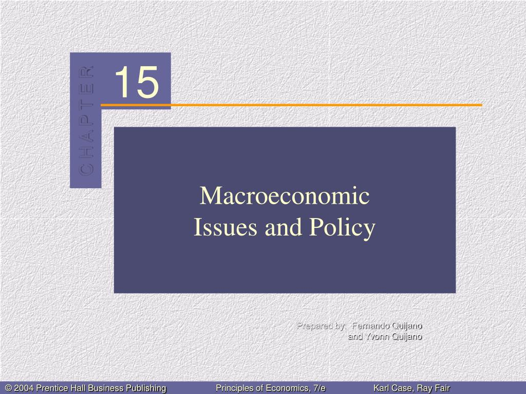 macroeconomic issues and policy l.