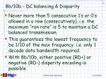 8b 10b dc balancing disparity
