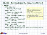 8b 10b running disparity calculation method