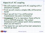 aspects of ac coupling