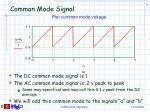 common mode signal