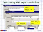 create ramp with expression builder