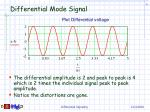 differential mode signal