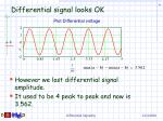 differential signal looks ok