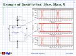 example of sensitivities slew skew r
