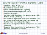 low voltage differential signaling lvds