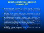 derechos maternales seg n el convenio 103