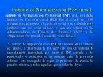 instituto de normalizaci n previsional