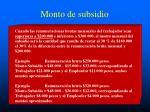 monto de subsidio152