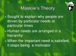 maslow s theory