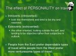 the effect of personality on travel