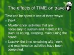 the effects of time on travel