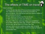 the effects of time on travel1