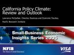 california policy climate review and outlook