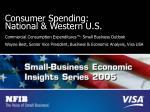 consumer spending national western u s