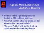 annual dose limit to non radiation workers