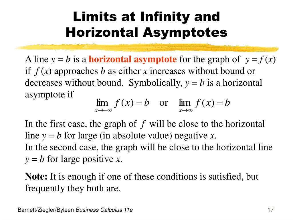 Limits at Infinity and