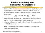 limits at infinity and horizontal asymptotes