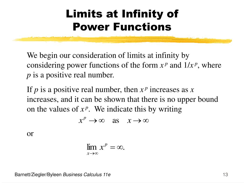 Limits at Infinity of