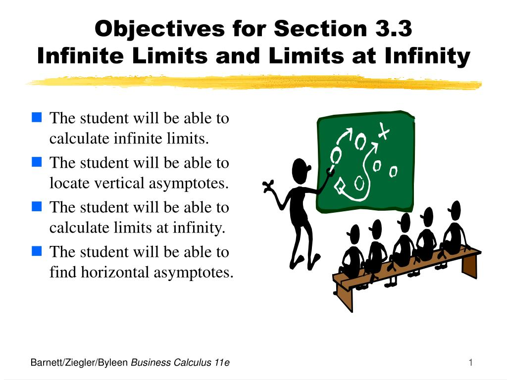 objectives for section 3 3 infinite limits and limits at infinity l.