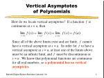 vertical asymptotes of polynomials