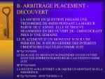 b arbitrage placement decouvert