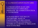 c la negociation bancaire