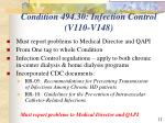 condition 494 30 infection control v110 v148