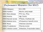 performance measures see mat