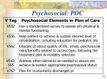psychosocial poc