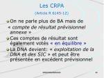 les crpa article r 6145 12