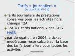 tarifs journaliers article r 6145 21