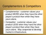 complementors competitors