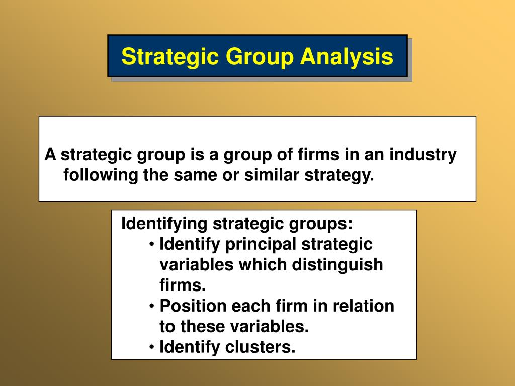 strategic group analysis of toy and Intra-industry analysis outline factors in the us bicycle industry strategic group analysis a strategic group is a group of through toy retailers (discount.