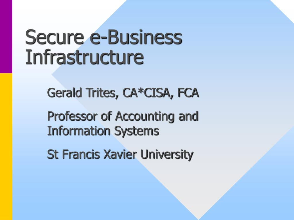 secure e business infrastructure l.