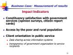 business case measurement of results