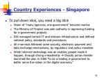 country experiences singapore