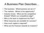 a business plan describes