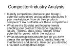 competitor industry analysis