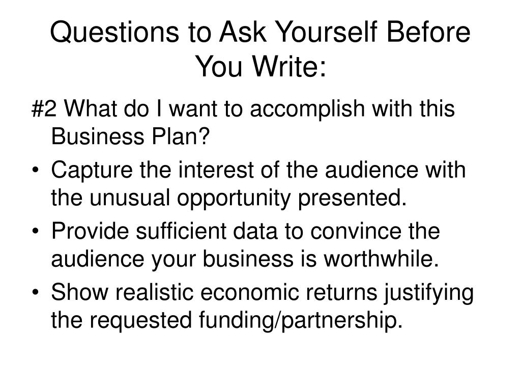 Questions to Ask Yourself Before You Write: