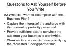 questions to ask yourself before you write6
