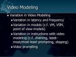 video modeling57